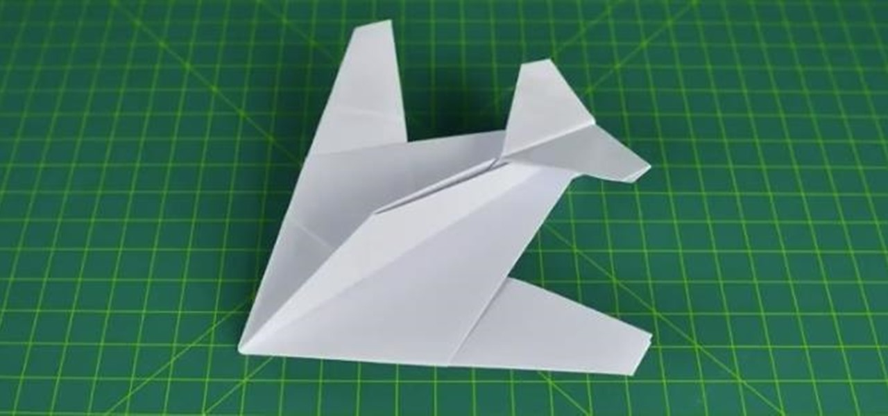 How To Fold A Paper Plane Stealth Fighter