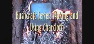 Make charcloth for easy fire starting with a t-shirt and a metal tin