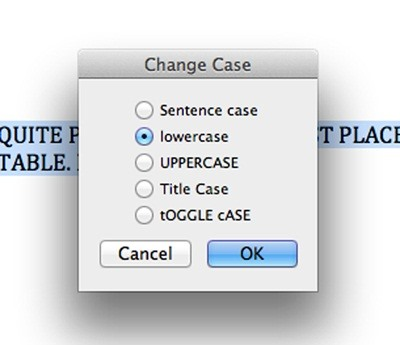 How to instantly change blocks of capitalized text in microsoft how to change cases in word for mac spiritdancerdesigns Image collections