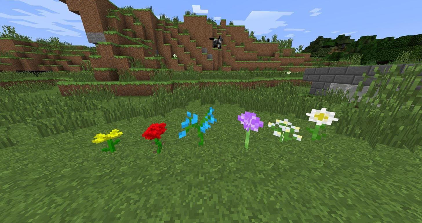 Minecraft 1 7 What s New Terrain Flowers & Ground Cover Minecraft