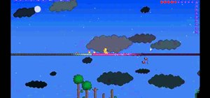Find fallen stars in Terraria