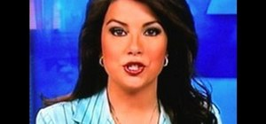 Apply flattering makeup for TV news anchors