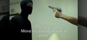 Disarm an armed man with a pistol