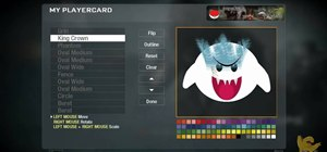 Create a custom King Boo playercard emblem in Call of Duty: Black Ops