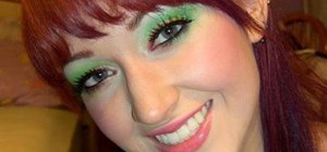 Create a bold green Sour Skittles makeup look