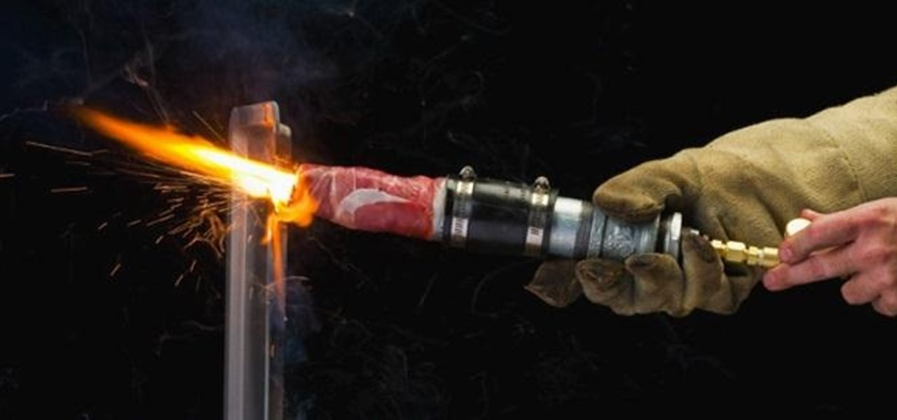 This Thermal Lance Fueled by Bacon (Yes, Bacon) Can Cut Right Through a Steel Pan