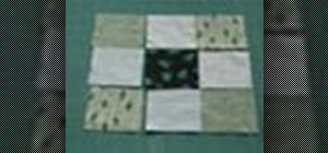 Sew a disappearing 9 patch quilt block