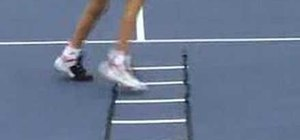 Do tennis agility and footwork exercises