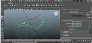 Use the NURBS Extrude tool in Autodesk Maya 2011