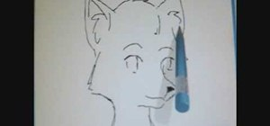 Draw a furry cartoon fox