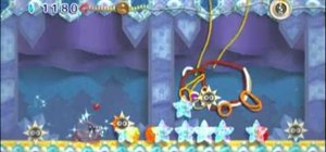 Defeat the Snow Land boss, King Dedede, in Kirby's Epic Yarn