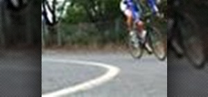Go through corners on a bicycle