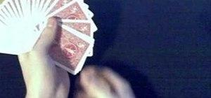 Perform a full fan magic card trick