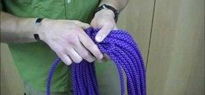 Tie an Alpine Coil knot