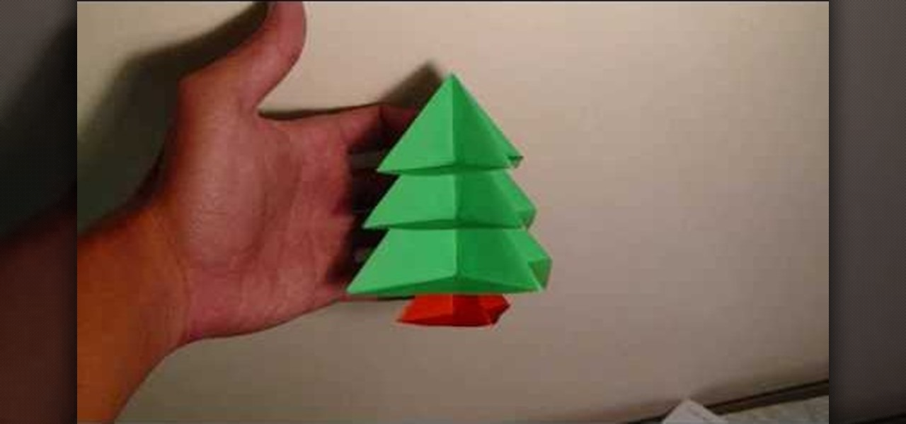 how to make a modular origami christmas tree origami wonderhowto - How To Make An Origami Christmas Tree