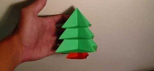 Make a modular origami Christmas tree