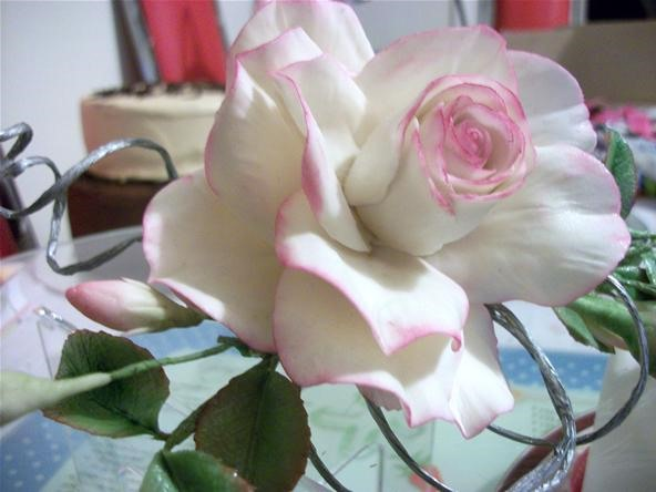 handmade fondant rose