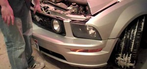 Install smoked headlights with halos on a Ford Mustang