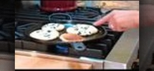 Make vegan whole grain blueberry orange pancakes