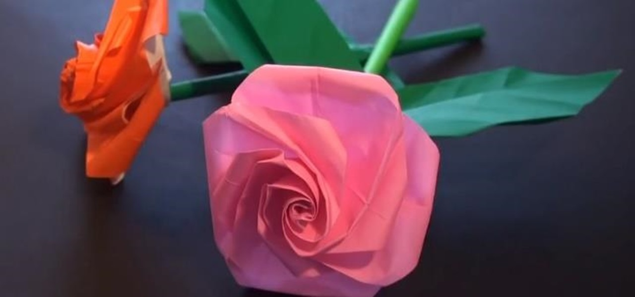 Make a Beautiful Valentine's Day Origami Rose