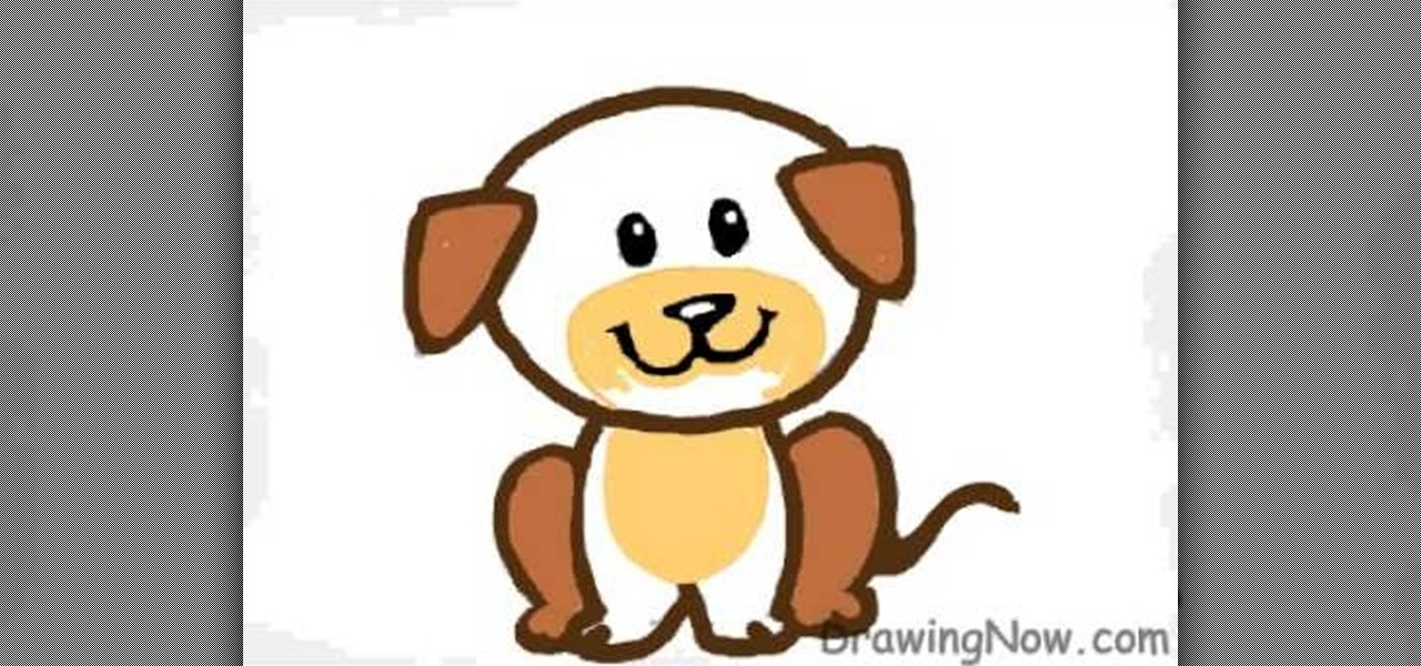 how to draw a cute cartoon puppy