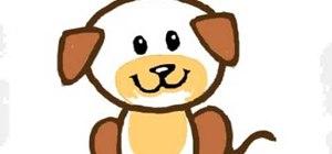 Draw a cartoon puppy