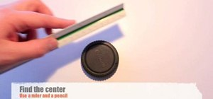 Make your own pinhole lens for a digital SLR camera