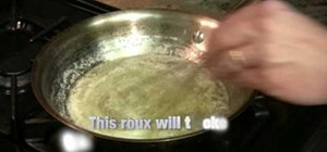 Make a basic roux with butter and flour