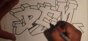 "Graffiti the word ""dem"" with Wizard"