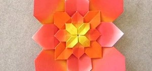 Origami a hydrangea