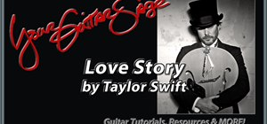 "Play ""Love Story"" by Taylor Swift on acoustic guitar"