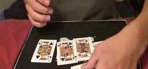Perform a very easy jacks card trick