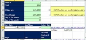 Format dates & calculations in Excel