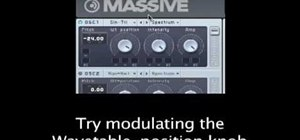Create a Dubset wobble bass sound with MASSIVE