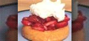 Make strawberry shortcake with homemade whipped cream
