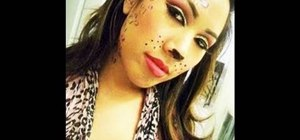 Apply sexy cheetah girl makeup for Halloween