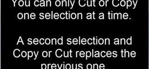 Cut, copy and paste on a Windows PC