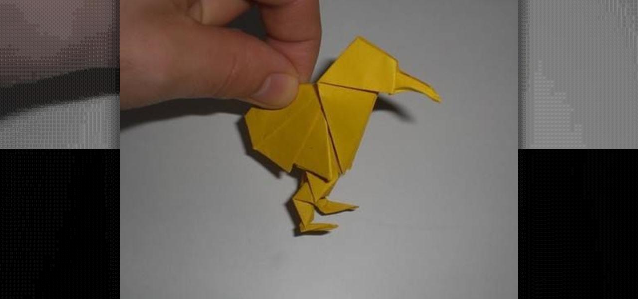 how to make an adorable origami kiwi for intermediate