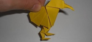 Make an adorable origami kiwi for intermediate origami students
