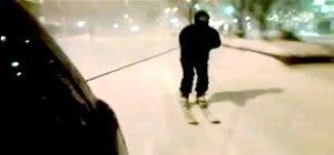 Skiing the Manhattan Tsnownami at 40 MPH