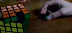 Lubricate a 4x4 Rubik's Revenge Cube