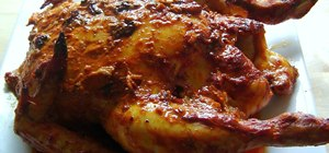 Make a tandoori style roast chicken with spicy marinade
