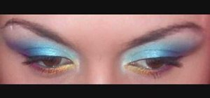 Create a butterfly inspired eye makeup look