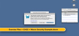 Observe good macro security practices when using Word for Mac 2011