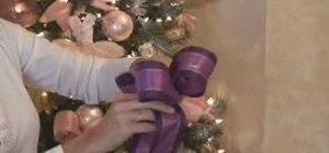 Make a glamorous Christmas bow and wreath