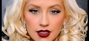 Do a Christina Aguilera hollywood glam makeup look