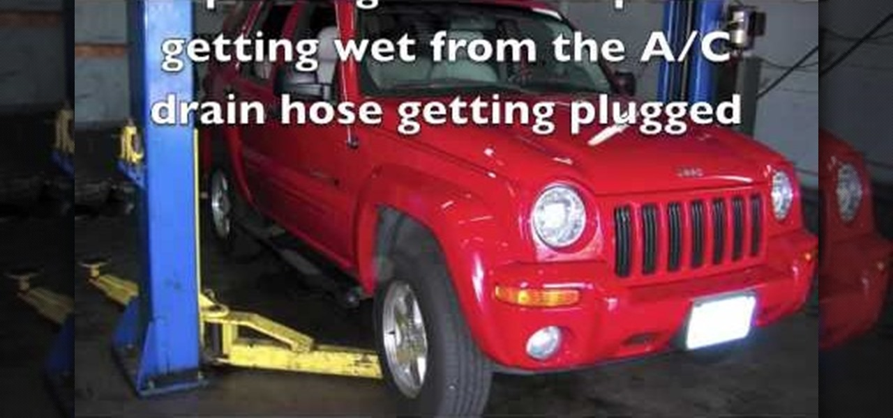 How to Fix a plugged up air conditioner drain hose on a Jeep Liberty « Auto Maintenance & Repairs :: WonderHowTo