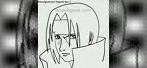 Draw Itachi from Naruto
