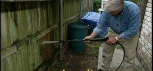 Use a pressure washer on wood and other surfaces