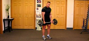 Do standing bicep curls to tone arms and gain muscle